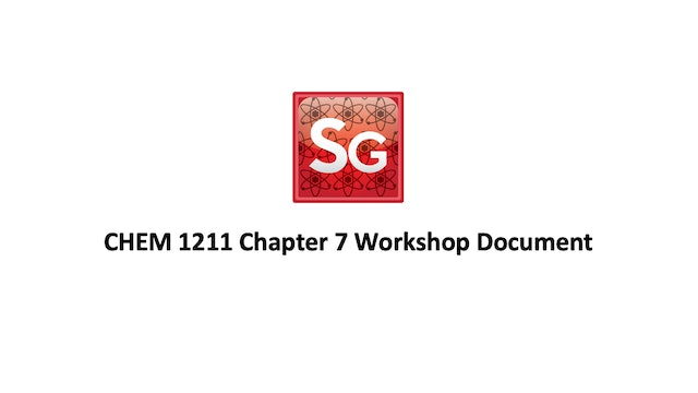 Chapter 7: Thermochemistry Workshop Document