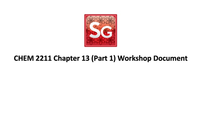 Chapter 13 (Part 1): IR Spec Spring 2021 Workshop Document