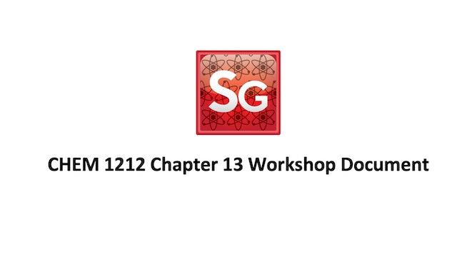 Chapter 13: Thermodynamics Spring 2021 Workshop Document
