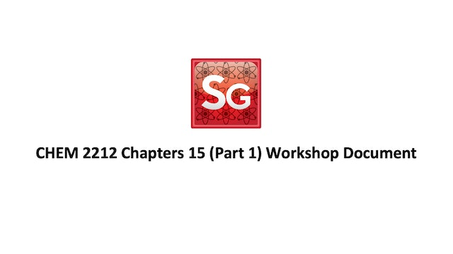 Chapter 15 (Pt 1): Nomen. of Carboxylic Acids Spring 2021 Workshop Document