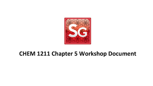 Chapter 5: Introduction to Rxns in Aqueous Solns Spring 2021 Workshop Document