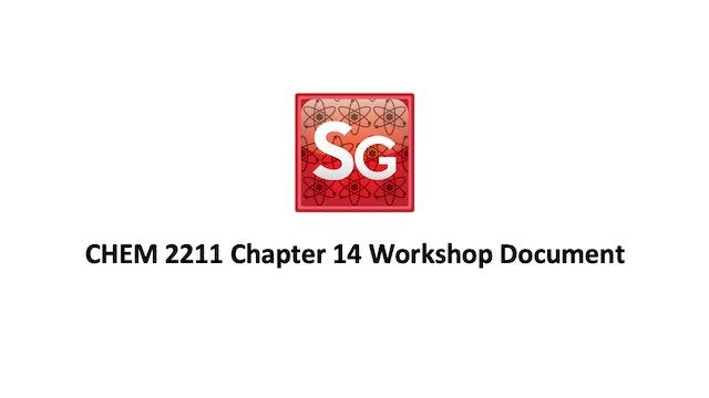 Chapter 14: NMR Spectroscopy Workshop Document