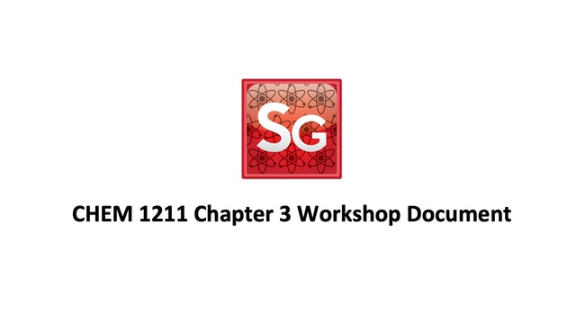 Chapter 3: Chemical Compounds Spring 2021 Workshop Document