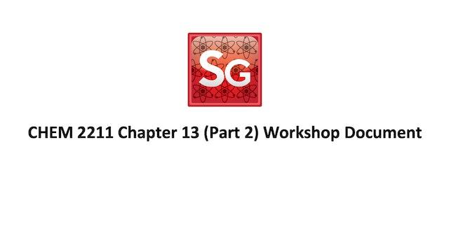 Chapter 13 (Part 2): Mass Spec Workshop Document