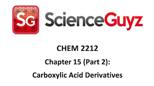 CHEM 2212 Ch 15 Part 2 Video 1