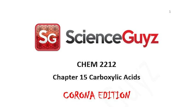 CHEM 2212 Chapter 15: Carboxylic Acids Workshop