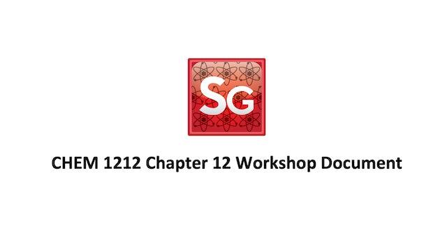 Chapter 12: Solids & Liquids-Intermolecular Forces Spring 2021 Workshop Document