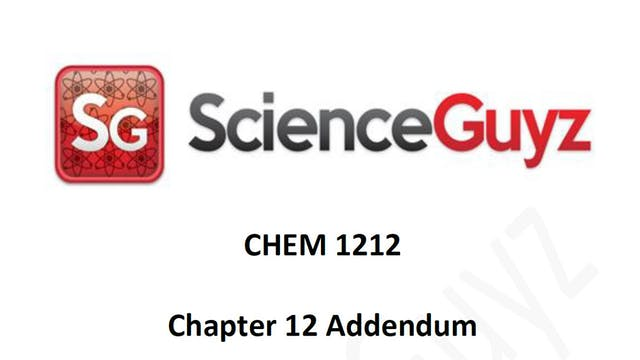 Chapter 12 Addendum