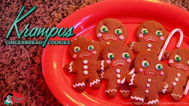 Homicidal Homemaker: Krampus Gingerbread Cookies