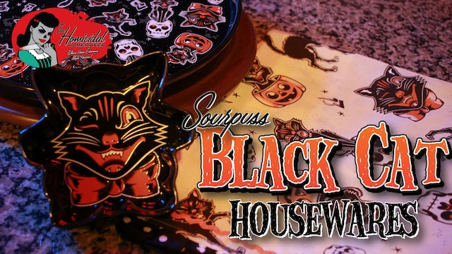 Homicidal Homemaker: Sourpuss Clothing Black Cat Housewares Review