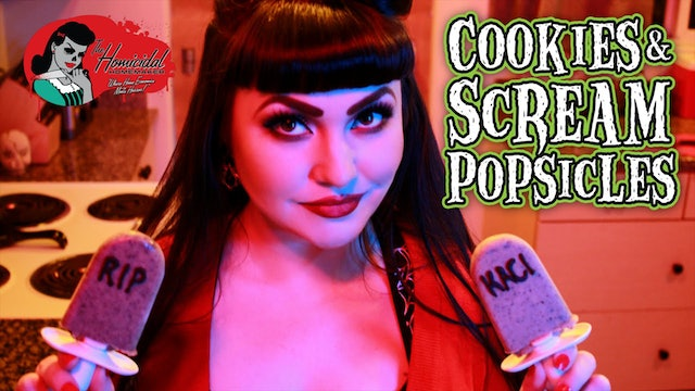 Homicidal Homemaker: Cookies and Scream Tombstone Popsicles Recipe
