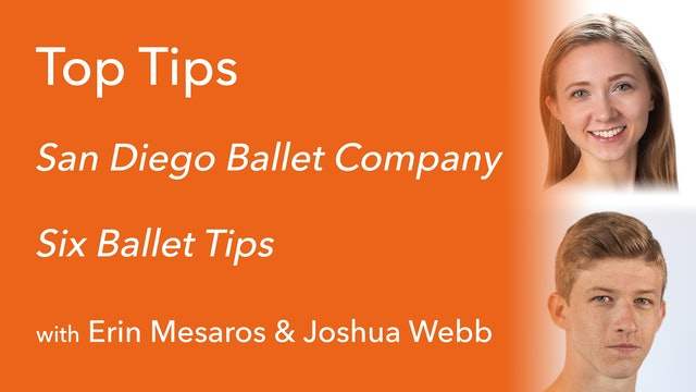 Six Ballet Tips with Erin Masaros & Josuha Webb