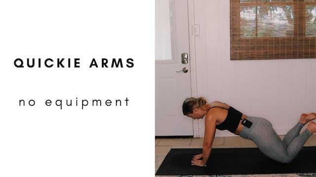 quickie no equipment arms