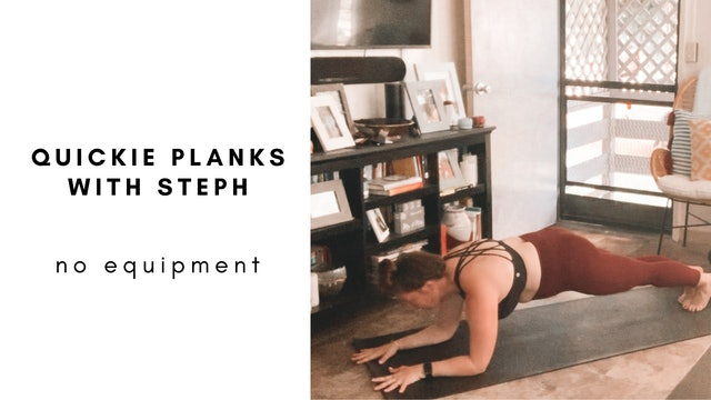 quickie planks with steph