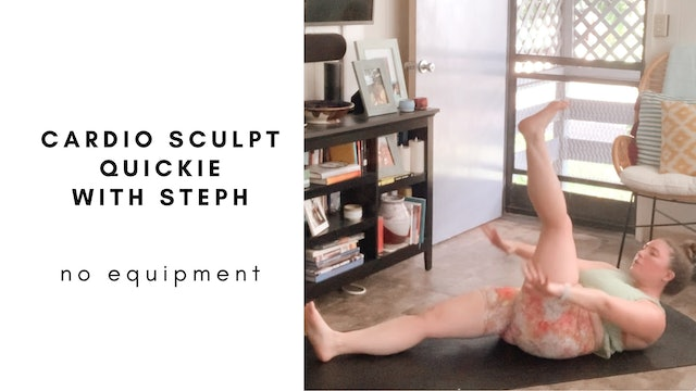 cardio scupt quickie with steph