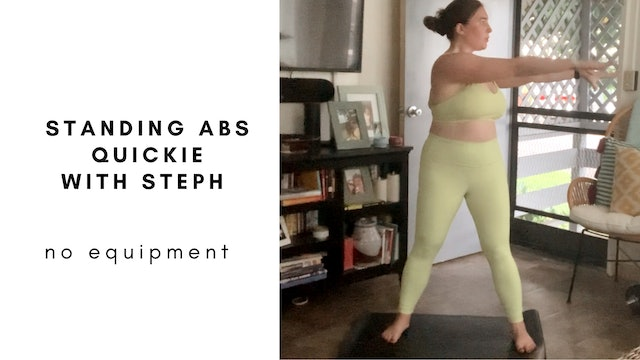 quickie standing abs with steph