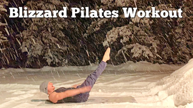 Pilates Abs Flow in the SNOW