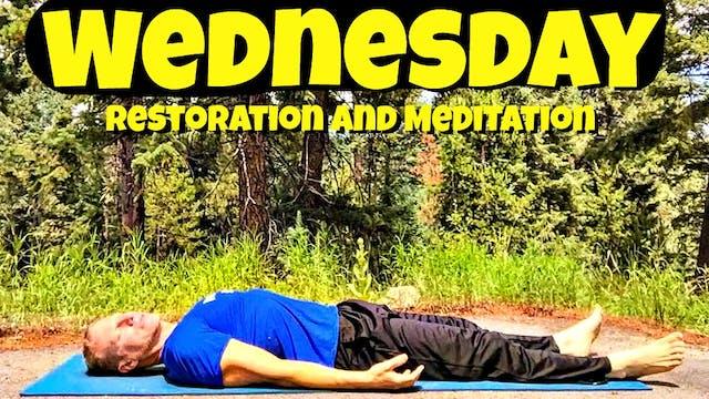 Wednesday - Yoga for Restoration and Meditation - 7 Day Yoga Challenge