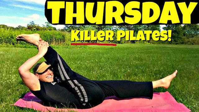 Thursday - Explosive Killer Pilates Fat Burning Workout - 7 Day Pilates Challenge