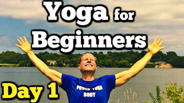 Day 1 - Morning Yoga - Sean's 7 Day Beginner Yoga Challenge