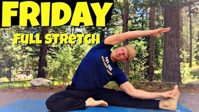 Friday - Full Body Yoga Stretch Routine - 7 Day Yoga Challenge #yogastretch