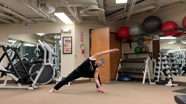 Walking Spine Stretch Yoga Warrior Flow