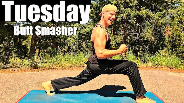 Tuesday - Sweaty Yoga for Butt, Legs and Chest Workout - Sean's 7 Day Fitness Challenge