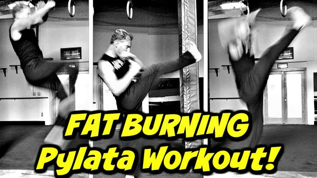 FAT DESTROYER Pylata Workout w/ Kicks!
