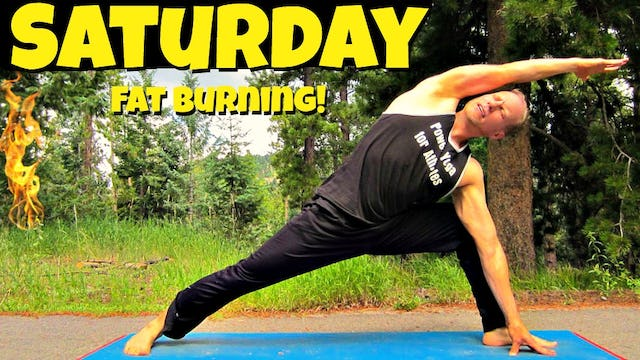 Saturday - Power Yoga Cardio Fat Burning Routine - 7 Days of Yoga Challenge