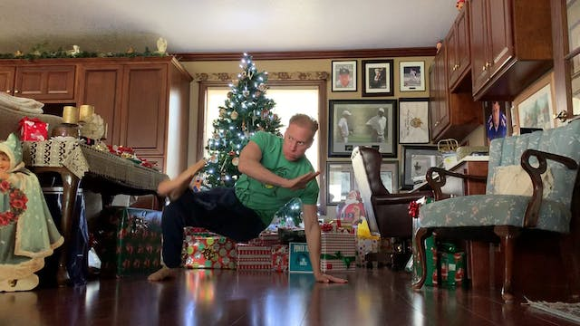 Christmas Kick Through Burpees