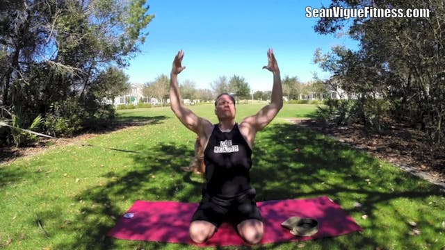 Warrior Power Yoga Flow on the Big Stage