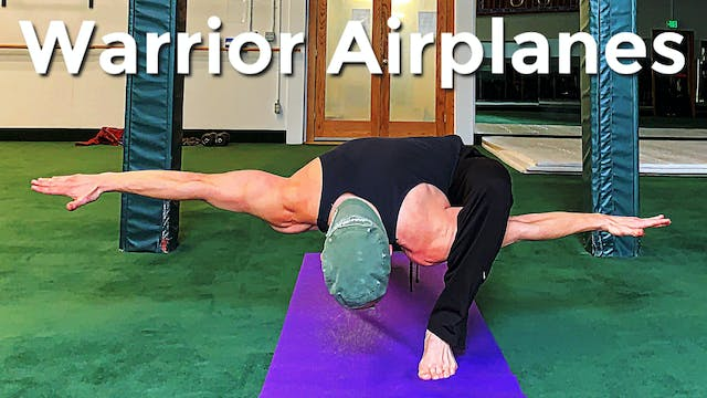 Warrior Airplane Power Yoga Challenge