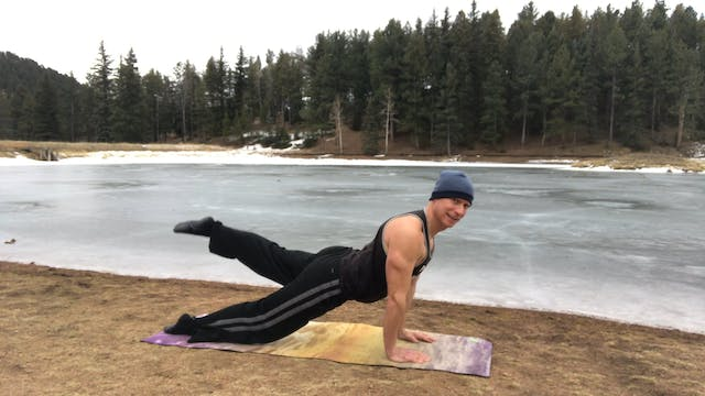 Up Dog Push Ups Vinyasa Flow - Frozen...