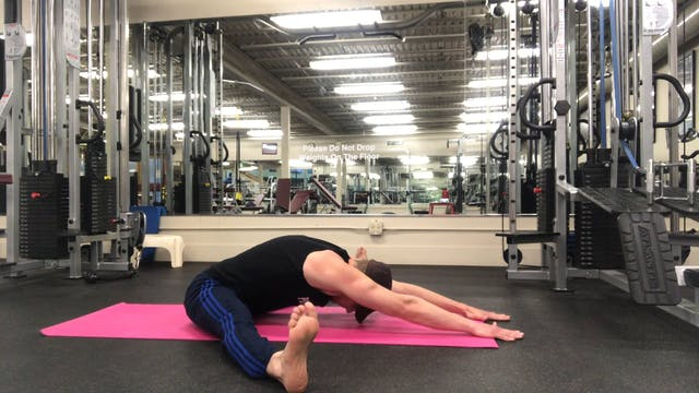 Straddle Slides w/ Mudra Stretch