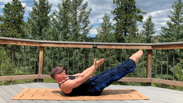 Reverse Single Straight Leg Pilates