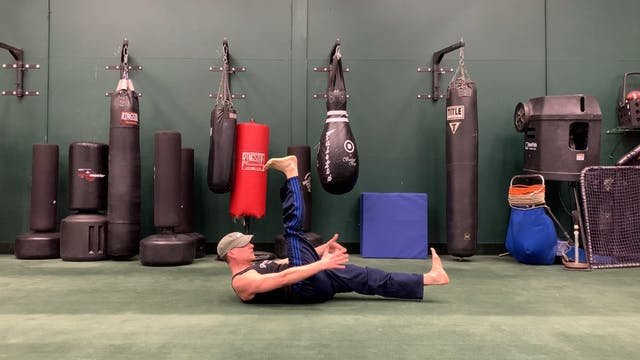 Scissors Hold Core Exercise