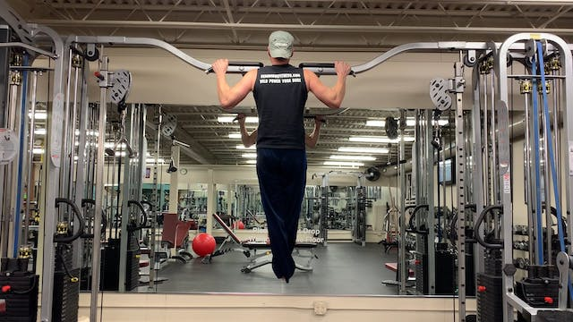 Wide Grip Negative Pull Up Squats