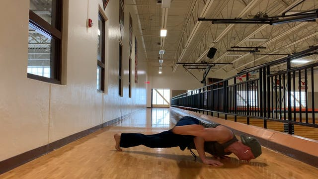 Hover Leg Swing Plank Series