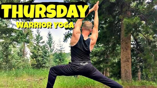 Thursday - Intense Warrior Yoga Core Routine - 7 Day Yoga Challenge