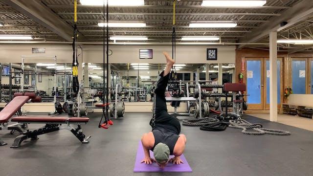 Warrior Hug Wrap Airplane Power Yoga ...