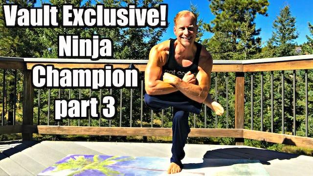 Vault: Ninja Champion Power Yoga Class part 3 of 3