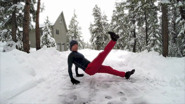 Magical Plank Workout in the Snow