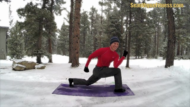 Intense Weight Loss Yoga Flow in the Snow