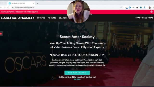 Welcome To Secret Actor Society: Site Tour!