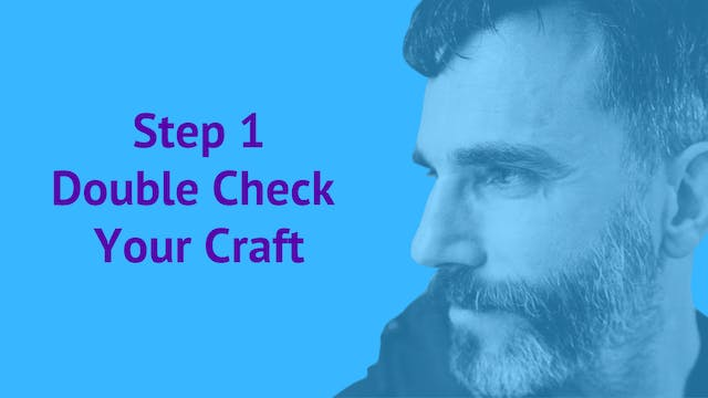 Step 1: Double Check Your Craft