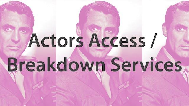 Actors Access / Breakdown Services