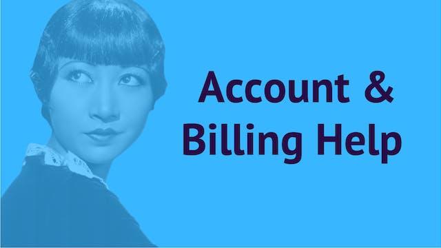 SAS Account & Billing Help