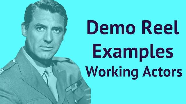 Demo Reel Examples: Working Actors