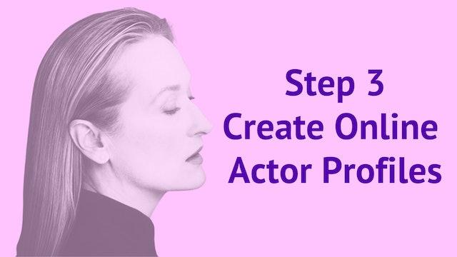 Step 3: Create Online Actor Profiles