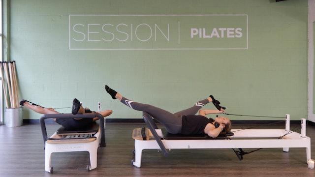 Reformer Stretch: Lying Lower Body Stretch With Ashley